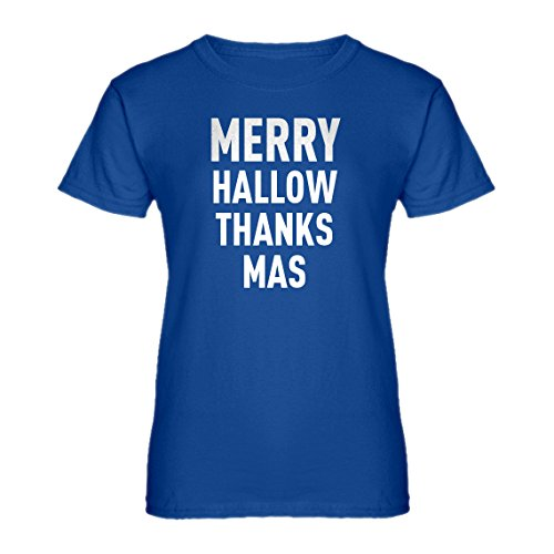 Indica Plateau Womens Merry Hallow Thanks Mas XX-Large Royal Blue -