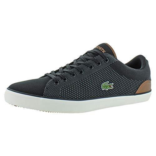 Lacoste Mesh Sneakers - Lacoste Men's Lerond Sneaker, Black tan Canvas, 10 Medium US