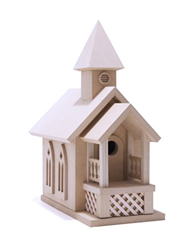 American Original Dollhouse Prairie Church Birdhouse Kit - Country Church Birdhouse