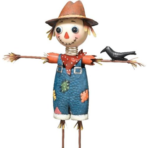 Regal art gift scarecrow garden decor large home sculptures for Animated scarecrow decoration