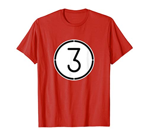 Red 3 Ball Pool Funny Halloween Group Costume Gift -