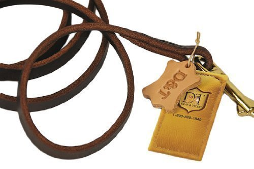 5-Feet by 1 2-Inch Dean & Tyler No Nonsense Leash Hand Stitched with Solid Brass Hardware, Brown, 5-Feet by 1 2-Inch