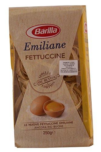 Barilla NR 175 Emiliane Fettuccine all'Uova 6 x 250g = 1500gHARTWEIZENGRIESS, frische EIER der Klasse A (28,3%)