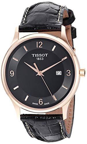 Tissot unisex-adult Rose Dream Steel And 18K Gold Dress Watch Black T9144104605700