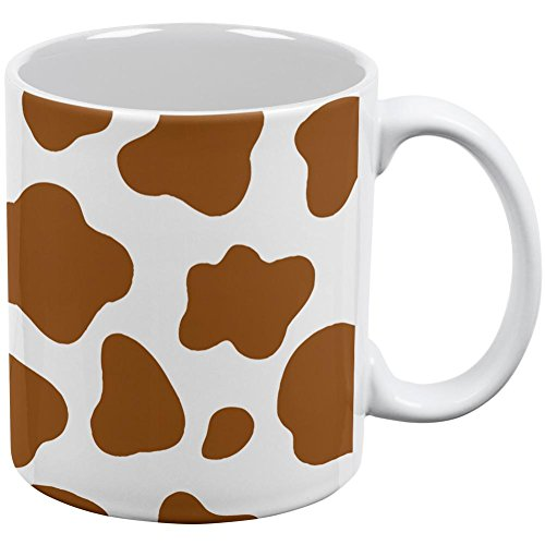 Halloween Costume Brown Spot Cow All Over Coffee Mug White Standard One Size -