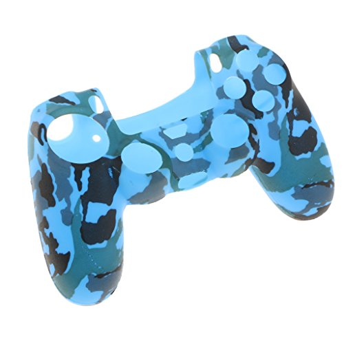 Sharplace シリコンケース スキン カバー ケース プレイステーション4 PS4コントローラ用 高性能  薄型 全9色 - 青