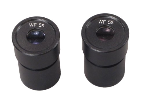 OMAX A Pair of WF5X/20 WideField Eyepieces with 30.5mm mount size for Stereo Microscopes by OMAX