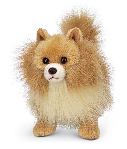 Bearington Rudy Pomeranian Plush Stuffed Animal Puppy Dog, 13 inches