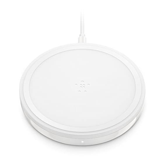 Belkin Boost Up Wireless Charging Pad 10W – Qi Wireless Charger for iPhone XS, XS Max, XR / Samsung Galaxy S9, S9+, Note9 / LG, Sony and more (White)