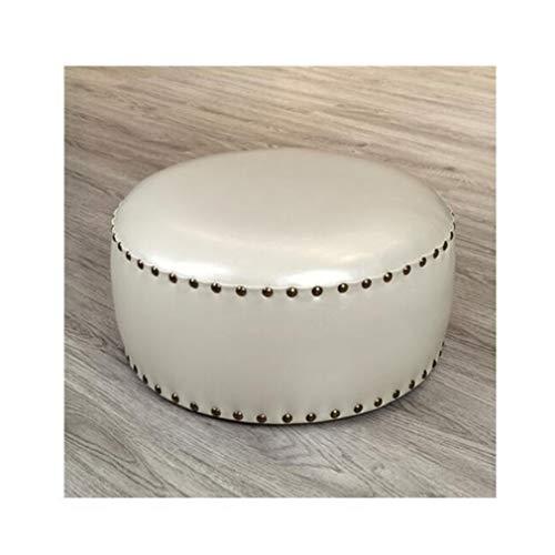 YCSD Modern Simplicity Round Stool,Pouffe Ottoman Footstool,Sofa Stool Coffee Table Stool ,50×28cm(Diameter×high) (Color : 50)