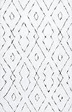 nuLOOM Bealauh Shaggy Area Rug, 6' x 9', White