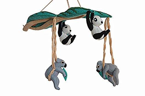 - Silk Road Bazaar Koalas and Pandas Mobile, Black/White