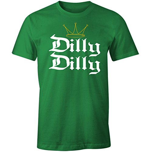 (Fantastic Tees Dilly Dilly Funny Beer St. Patrick's Day Shirt (5XL, Kelly)