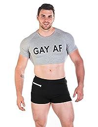 JJ Malibu Men's Fun Cropped Tee Fitness Slim Fit Crop Top T Shirt