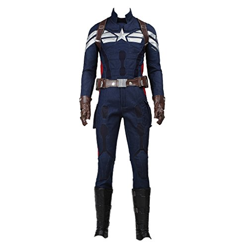 Captain America Ww2 Costumes (CosplayDiy Men's Costume For Captain America 2 The Winter Soldier Cosplay XXXL)
