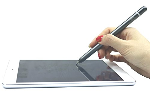Active Touch Stylus Pens,Rechargeable Accurate Point Stylus Pens,Fine Tip Metal Electronic Styli for iPad,iPhone Plus,Tablets,Smartphones,All Capacitive Touch Screen Devices (Gray) by Peilinc (Image #7)