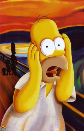 Click for larger image of (24x36) Simpsons (Homer - The Scream) Cartoon Poster