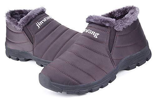 Snow Women Anti Boots Warm Ankle Trim Waterproof Boots Suede Slip Shoes Cotton Coffee Fur Faux Men Couple Winter wwFqnxrCSt