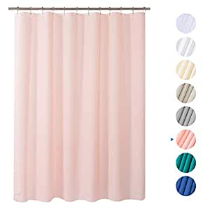 """Amazer Shower Curtain, 72"""" x 72"""" Pink EVA 8G Mildew Resistant Thick Bathroom Shower Curtains Non-Toxic No Chemical Odor Eco-Friendly with Heavy Duty Clear Stones and Rustproof Grommets Holes"""