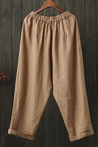 Femmes Athnic Taille Kaki Ample Harem Lâche Simgahuva Casual Pantalons Haute fdwqI
