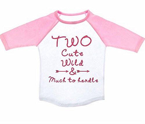 Amazon Two Birthday Shirt Baseball Tee Personalized Customized Unisex Boy Or Girl Handmade