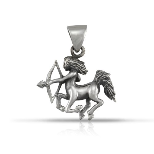 (WithLoveSilver 925 Sterling Silver Zodiac Horoscope Sagittarius Sign Archer (23 Nov – 21 Dec) Pendant)