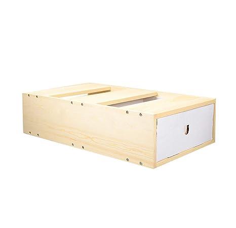 ZCY Automático Cajas De Arena para Gatos, Caja De Expansión, Madera Maciza Gato Aseo