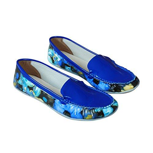Mujeres Triveni Vientres Heel sintética Azul