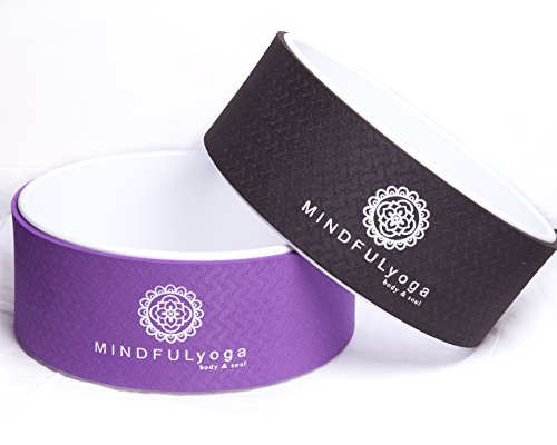 Mindful Yoga Yoga Wheel & Pose Guide Extra Strength, Eco-Friendly Stretching Prop, Mat Material – Comfort & Safety in All Yoga Poses