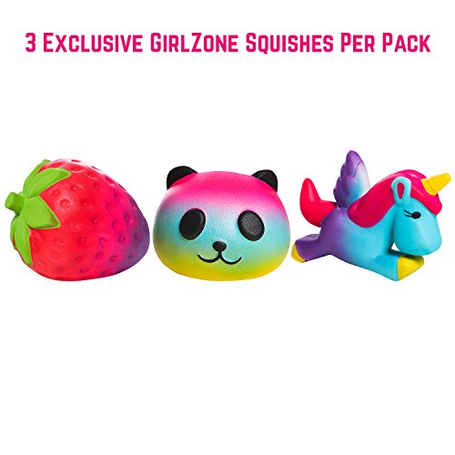 GirlZone Gifts for Girls: Set of 3 Slow Rising Squishies, Unique Colors, Stress Reducing, Scented Squishy, Birthday Present Gift for Girls Age 4 5 6 7 8 9+ by GirlZone (Image #7)