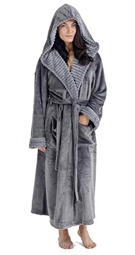 68d6a962f9 CityComfort Ladies Dressing Gown Fluffy Super Soft Hooded Bathrobe for Women  Plush Fleece Perfect for Spa Gym Loungewear Long Robe
