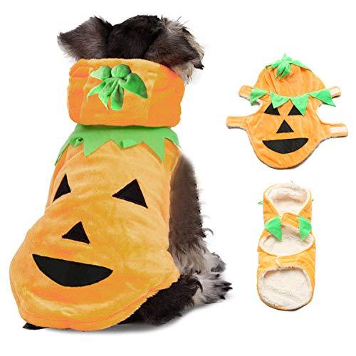 Halloween Pumpkin Style Pet Puppy Dog Cat Clothes Hoodie Costumes Apparel Coat - S -