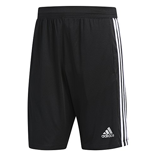 adidas Men's Designed-2-Move 3-Stripe Shorts, Black/White, Medium Adidas Gym Shorts