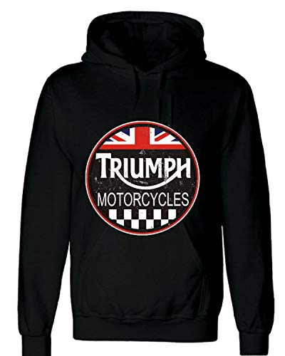 Triumph Motorcycle Vintage Art Pullover Hoodie Shirt ()