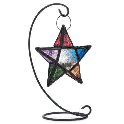 Gifts & Decor Evening Star Candle Holder Hanging Standing Lantern (Star Lantern Christmas)