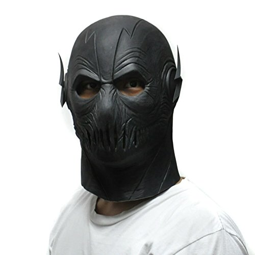 [Great Gift The Zoom Flash Mask DC Movie Cosplay Costume Prop Halloween Full Head Latex Party Masks] (Raven Dc Costume)