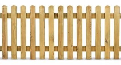 Italfrom Steccato In Legno Di Pino L 200 X H 80 Staccionata Doghe