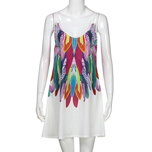 ... Damen Kleid Sommerkleid Freizeitkleid,Jaminy Frauen Sommer Boho Casual  Printed Maxi Party Cocktail Strandkleid Sonnen ... a3037bd87c