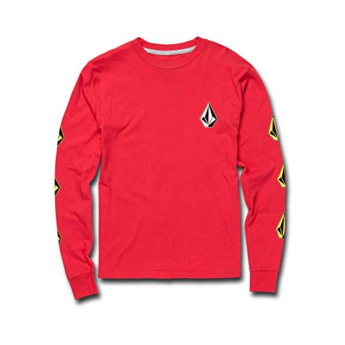 Genuine Boys Shirt (Volcom Big Boys' Deadlystones Long Sleeve Tee Red)