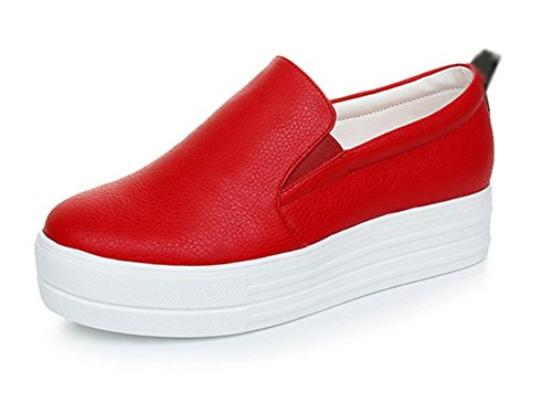 los zapatos del elevador Ms Spring escogen los zapatos de las mujeres mollete de fondo grueso zapatos planos zapatos casuales , US7.5 / EU38 / UK5.5 / CN38