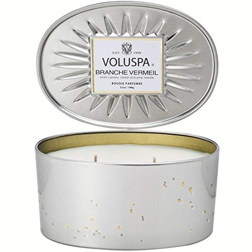 Voluspa Branche Vermeil 2 Wick Candle In Decor Oval Tin, 12.7 Ounce