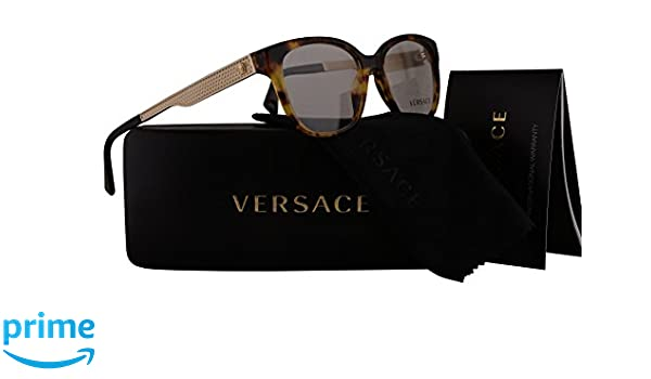 ed100791cb6 Amazon.com  Versace VE3240 Eyeglasses 52-16-140 Havana w Demo Clear Lens  5208 VE 3240  Clothing