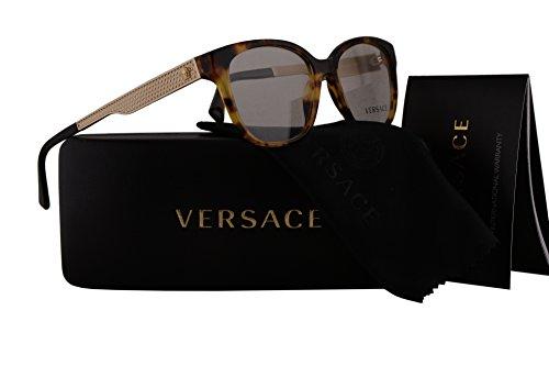 Versace VE3240 Eyeglasses 52-16-140 Havana w/Demo Clear Lens 5208 VE - Clear Versace Glasses