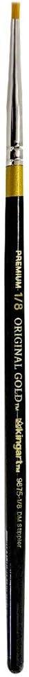KINGART 9875-1/8 Original 9875 Series, Golden Taklon Specialty Stippler, 1/8, Black/Gold