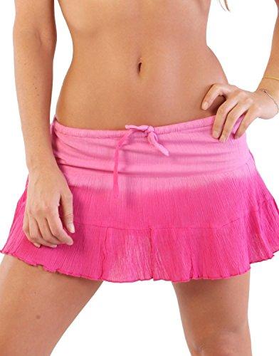 In Gear miniskirts algodón de la mujer Rosado Fade