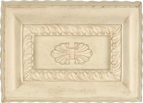 Craftmade CH1201-AWD Designer Hand-Carved Rectangle Door Chime Antique White Distressed (7H x 9.63W)