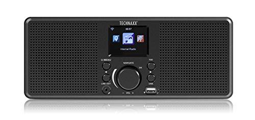 Technaxx Duitsland Internet Radio Station Draagbare Stereo Geluid WIFI 2X Luid Luidsprekers Mediaspeler USB AUX Line Out…