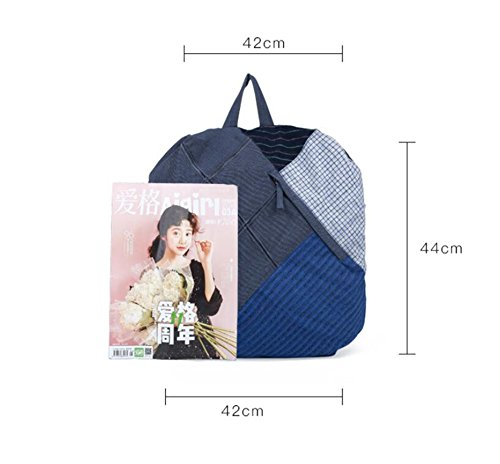 Girl Handmade Literary Shoulder And National Original Stitching Linen Wind Bisser Canvas Cotton Lady Chinese Retro Bag rfrF4xq