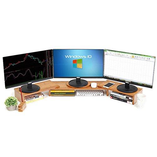 Easeurlife Computer Monitor Riser Multi Media Desktop Stand (Three-Stand - Monitor Multi Ati