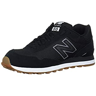 New Balance Men's 515 V1 Sneaker, Black/Off-White, 7 XW US